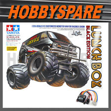 Tamiya Lunchbox Black Ed 1/12 RC Monster Truck Van Kit 58546 With Tble02 ESC