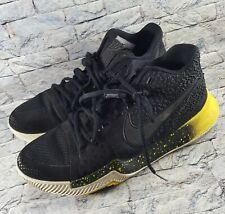 58af04cf014 Nike Kyrie 3 Black Yellow White Mamba Mentality Bruce Lee 852395-901 Shoes  Sz 8
