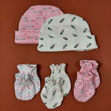 Set Baby Handschuhe Mütze Gr 50/56/62, 0-3 Monate, Erstausstattung, Rosa, Pink
