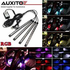 4X Bluetooth RGB 12LED Atmosphere Light Strip Car Interior USB APP Control EAD