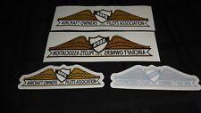 """4 AOPA Aircraft Owners Pilots Association Decal / Sticker 8"""" x 2"""" & 5.5"""" x 1.5"""""""