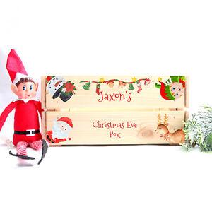 Personalised Christmas Eve Box Crate Treat Naughty Elf Stocking Filler Santa