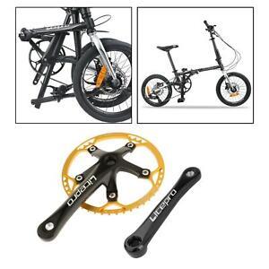 Road Bike Square Taper Crankset 45/447/53/56/58T MTB 170mm Crank Arm Cycling