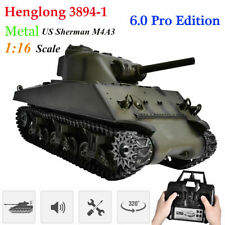 Henglong 3894-1 1:16 Scale Alloy US Sherman M4A3 2.4G RC Tank 6.0 Pro Edition