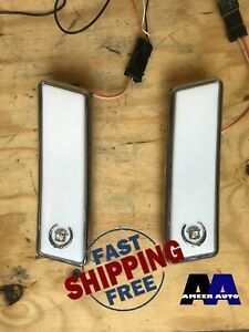 Pair Vintage 1990's Cadillac Interior Opera Map Lights OEM