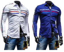 Polycotton Long Sleeve No Casual Shirts & Tops for Men