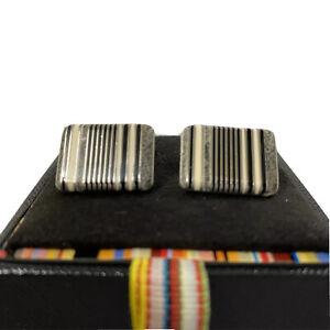 U-1261940 New Authentic Paul Smith Multi Stripe Cufflinks