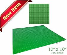 """Genuine LEGO Minifigure + 1 Green 10"""" x 10"""" Base Plate compatible with LEGO"""