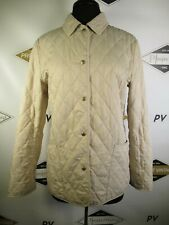 E7773 VTG BURBERRY LONDON Plaid Lined Quilted Jacket Size S