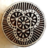 Circles Designs Round Wooden Printing Block/Stamp Textile Fabric Printing Tattoo
