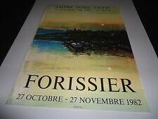 AFFICHE.FORISSIER.1982.GALERIE DENISE VALTA.IMP MOURLOT.