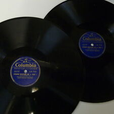 """78rpm 2x12"""" BEETHOVEN - WEINGARTNER - LSO leonore overture 2 , 1-4 LX 712 & 713"""