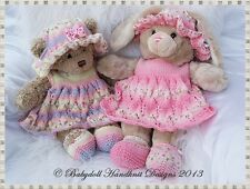 "BABYDOLL HANDKNIT DESIGNS KNITTING PATTERN TB2 16"" TEDDY OR BUILD A BEAR ANIMAL"