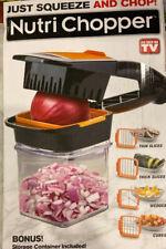 Nutri Chopper As Seen On TV 5-in-1 Handheld Kitchen Slicer New Item Damaged Box