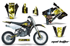 AMR Racing Graphics Decal Kit Suzuki RM 85 Sticker Wrap 2002-2012 MAD HATTER YLW