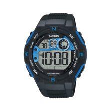 Lorus Mens Digital Watch Model R2317LX-9 Silicone Digital 4894138333262 Black