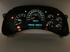 03 04 05 Silverado Speedometer Instrument Gauge Cluster White LEDs REBUILT