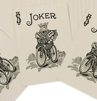 One Way Forcing Deck for Magic Tricks, Red Bicycle Joker (Black and White)