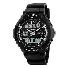 Men Waterproof Quartz Analog Digital Wristwatch Military Shock Watch