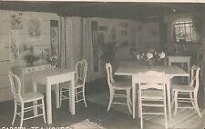 RPPC Real Photo Postcard ~ Garden Tea House Interior ~ Botanical Prints On Wall