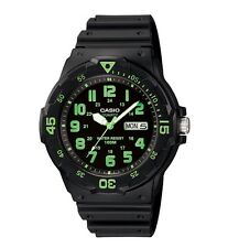 Casio Watch * MRW200H-3BV Diver Look 100WR Green and Black Resin COD PayPal