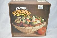 Vintage Corning Pyrex Ware 3260-F Fireside Naturals 4qt Serving Bowl with Basket