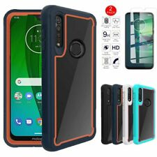 For Motorola Moto G8 Play G8 Plus Heavy Duty Clear Case Cover+Screen Protector