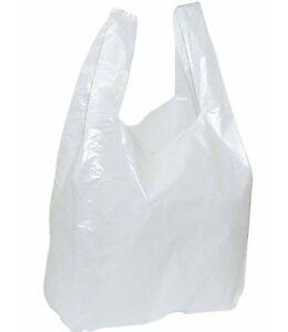 Tüte Weiß Beutel Plastik Hemdchentragetaschen Einkaufstüten Markt Tragetasche