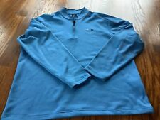 Oakley Quarter Zip Long Sleeve Mens Shirt Blue Size Extra Large Gently Used