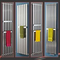 MIXED Designer Chrome Vertical & Horizontal Radiators + Chrome Towel Bars