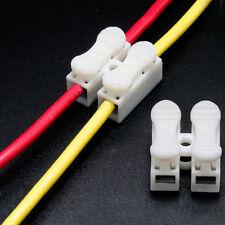 30PC Car 2 Pin Cable Terminals Connectors Quick Splice Lock Wiring Tools Durable