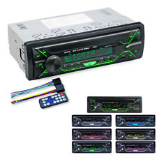 DC12V 1DIN Bluetooth Stereo Radio Audio MP3 Player Dash USB FM SD AUX 7LED Color