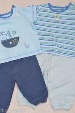 Completi blu in misto cotone per bambino da 0 a 24 mesi