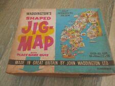 Vintage Waddington's Jig-Map Puzzle Scandinavia .