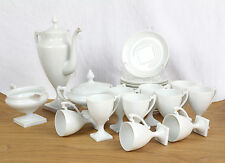 Limoges Giraud France Service 10 Personen Footed Demi Cups Sugar Milk Coffee Pot