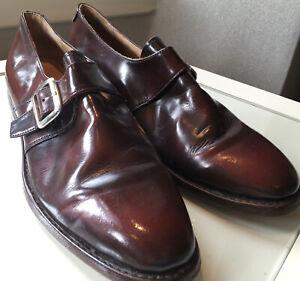 Samuel Windsor Handmade Burgundy Monkstrap Size 9.5 UK
