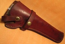 Vintage ~K~ Marked Heavy Leather Long PISTOL GUN HOLSTER in Great Condition