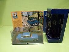 TINTIN HERGE 045 FORD ZEPHYR MK III TAXI BLEU - L'ILE NOIRE 1984 - MINT IN BOX