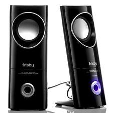 Frisby FS-50NU 2.0 Computer PC Laptop Desktop Speakers w/ Headphone & Mic Jacks
