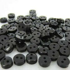 "500pcs 1/4"" 6mm Black Colors Mini Resin Buttons Fit Sewing Craft Scrapbooking"