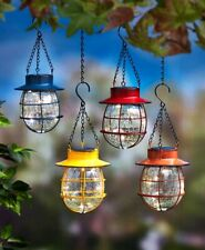 Country Solar Hanging Lanterns Yard Garden Outdoor Lighting Lights in 4 Colors