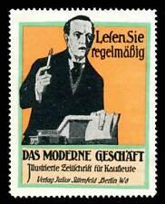 "Germany Poster Stamp - ""Das Moderne Geschäft"" Magazine for Business Operators"