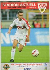 Orig.PRG    UEFA Cup  05/06    VfB STUTTGART - SCHACHTJOR DONEZK  !!  SELTEN