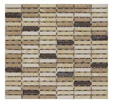 CERAMICA DI TREVISO mosaico da rivestimento 1x5 miscela MARRON MIX (fogli 30x30)
