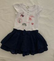 MARESE - French Girls Sz 3A/3 years Blue Tiered/Layer Dress  - NWT