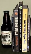 5 Beer & Home-Brewing Books Instant Library Man Cave Bar Decor Props Staging