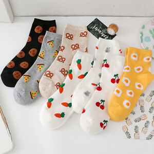 Middle Tube Socks Socks Casual Cotton Fashion Food Series Biscuit Lady Pizza