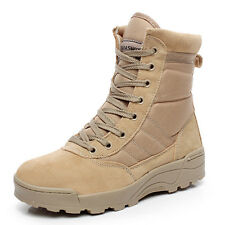 Men's Desert Boot Ankle Military Combat Tactical Army Work Comfort Leather Shoes