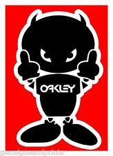 2 X cantidad Diablo Hombre Con Oakley Logo-Pegatina Impresa - (Elección de Tamaños)