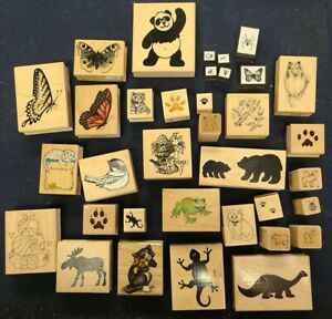 ANIMAL & INSECT RUBBER STAMP LOT OF 35 *CHECK MY OTHER LISTINGS*